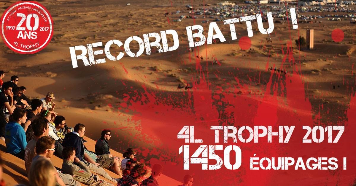 Record battu 4L Trophy 2017
